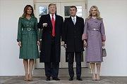 Americký prezident Donald Trump s manželkou Melanií a český premiér Andrej Babiš s chotí Monikou