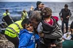 Uprchlíci na řeckém ostrově Lesbos