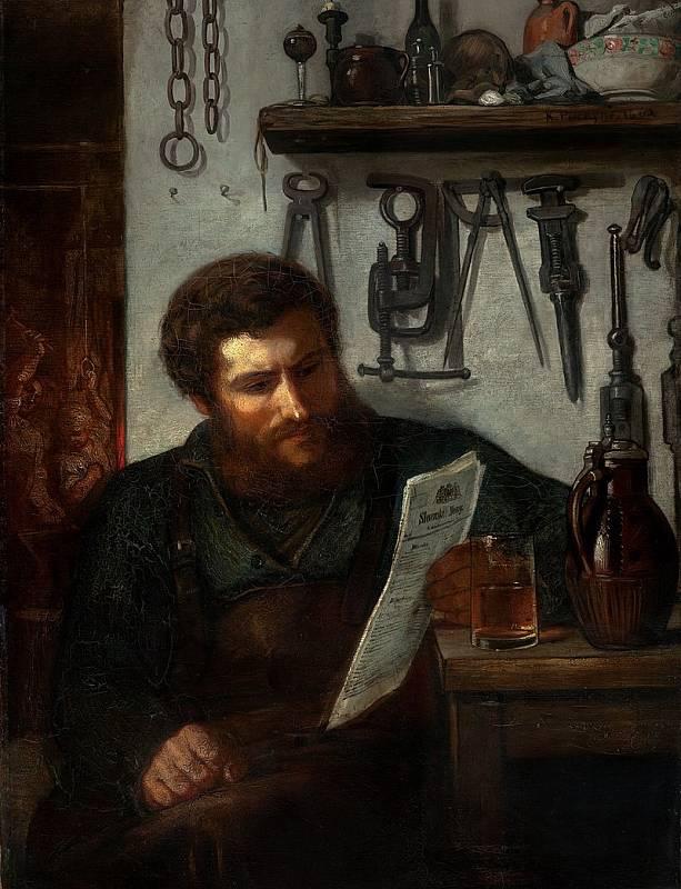 Práce v továrně byla v dřívějších dobách tou poslední z možných, dělníci i dělnice se usilovně snažili zůstat s prací ve svém - jako pražský kovář Josef Jech, jehož zachytil malíř Karel Purkyně na slavném obrazu