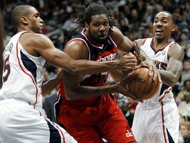 Z basketbalového utkání Atlanta - Washington 104:95.