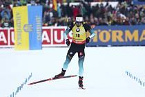 Francouzský biatlonista Martin Fourcade ve sprintu SP v Ruhpoldingu