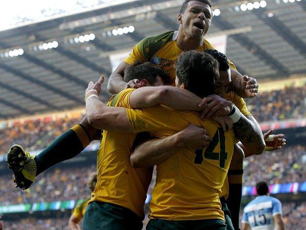Radost hráčů Austrálie.