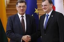 Premiér Nečas se svým lotyšským protějškem Valdisem Dombrovskisem