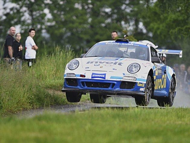 Václav Pech na Rallye Český Krumlov.