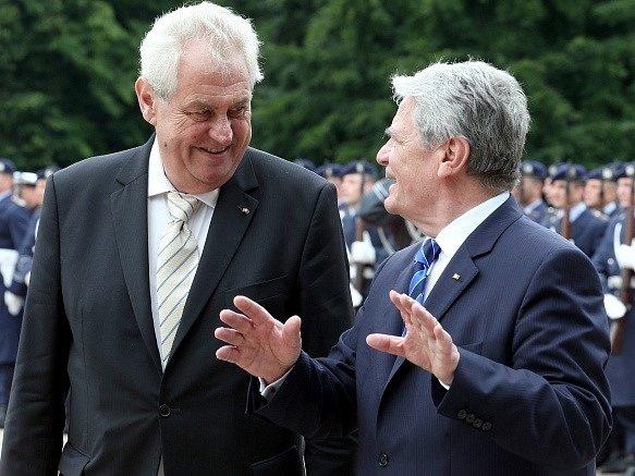 Miloš Zeman a Joachim Gauck