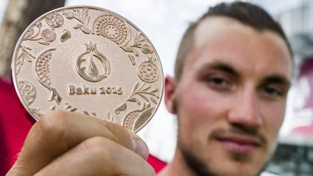 Martin Fuksa s bronzovou medailí