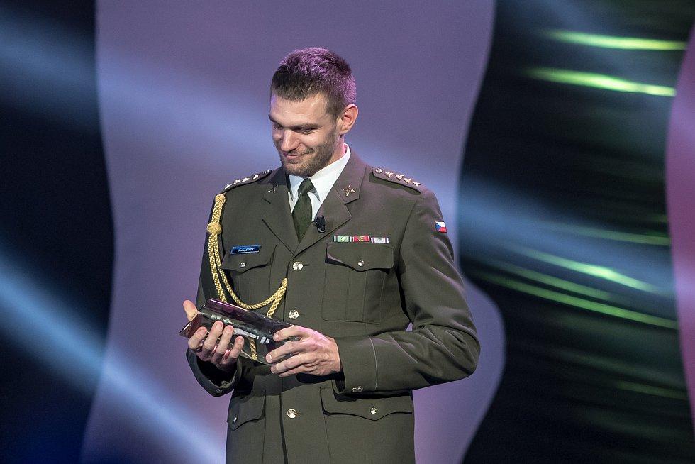 Vyhlašování ankety Sportovec roku probíhalo 21. prosince v Praze. Ondřej Synek