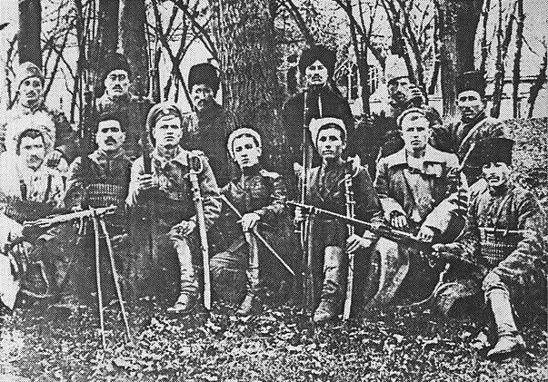 Ruský partyzánský oddíl koncem roku 1918