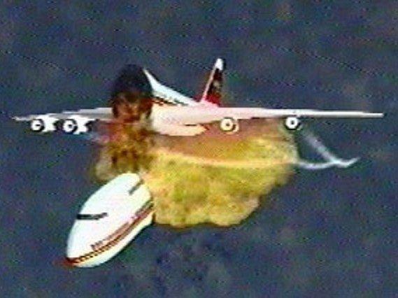 Při výbuchu letu 800 společnosti TWA v roce 1996 se letoun zřejmě ještě ve vzduchu rozlomil. Jak to přesně vypadalo, ukazuje animace CIA. Pozůstalí na zprávy o identifikaci těl čekali v hotelu Ramada Plaza. Bylo to poprvé, co se hotel proměnil v krizové c