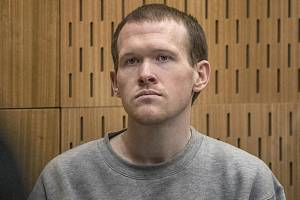 Australan Brenton Tarrant u soudu v novozélandském Christchurchi, 27. srpna 2020