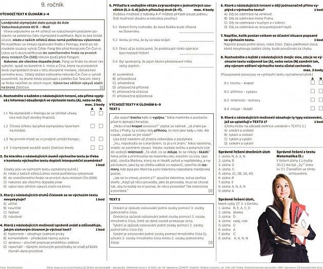Přijímací zkoušky zčeského jazyka.