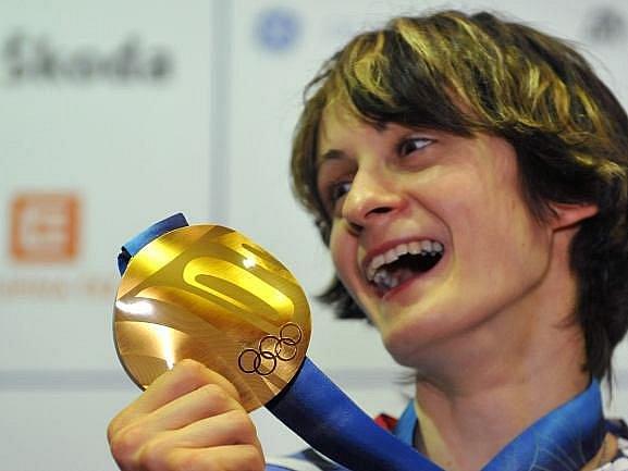Martina Sáblíková si na Valentýna snad ani nemohla přát lepší dárek než olympijské zlato.