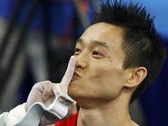 Nový olympijský vítěz Jang Wej.