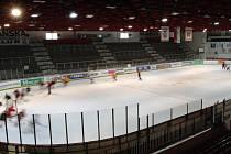 Zimní stadion v Edenu, opravdu domovský stánek hokejistů Slavie.