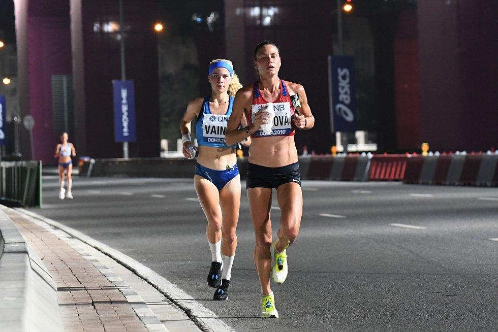 Marcela Joglová skončila 20. na MS v Dauhá.