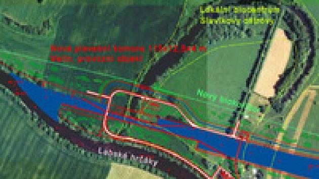 Plán plavebního kanálu na Labi u Přelouče