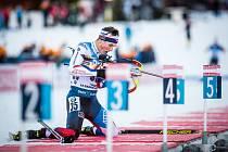 Závody SP v biatlonu, sprint mužů na 10 km, 19. prosince 2019 v Le Grand-Bornand. Český závodník Jakub Štvrtecký