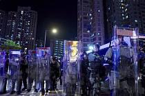 Policie v Hongkongu během protivládních protestů