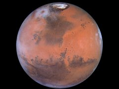 Nedatovaný snímek planety Mars pořízený Hubbleovým dalekohledem.