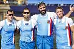 Čtyřkajak (zleva) Daniel Havel, Jan Štěrba, Josef Dostál a Lukáš Trefil obhájili na olympijských hrách v Riu bronz.