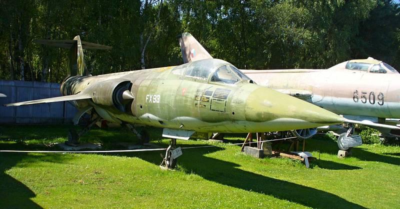 F-104 STARFIGTER. Americké stíhačky F-104 Starfighter uvidíte v Air Parku dokonce ve dvou verzích