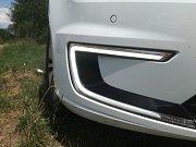 Detail denního svícení Volkswagenu e-Golf.