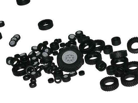 Lego vyrábí pneumatiky už 50 let.