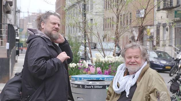 Otec a syn. Setkání díky filmu: Michael (vlevo) a Antonín Kratochvílovi.