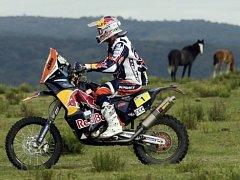 Cyril Després na Rallye Dakar 2013.