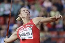 Barbora Špotáková při kvalifikaci v Curychu