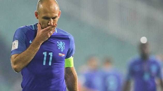 Zklamaný Arjen Robben.