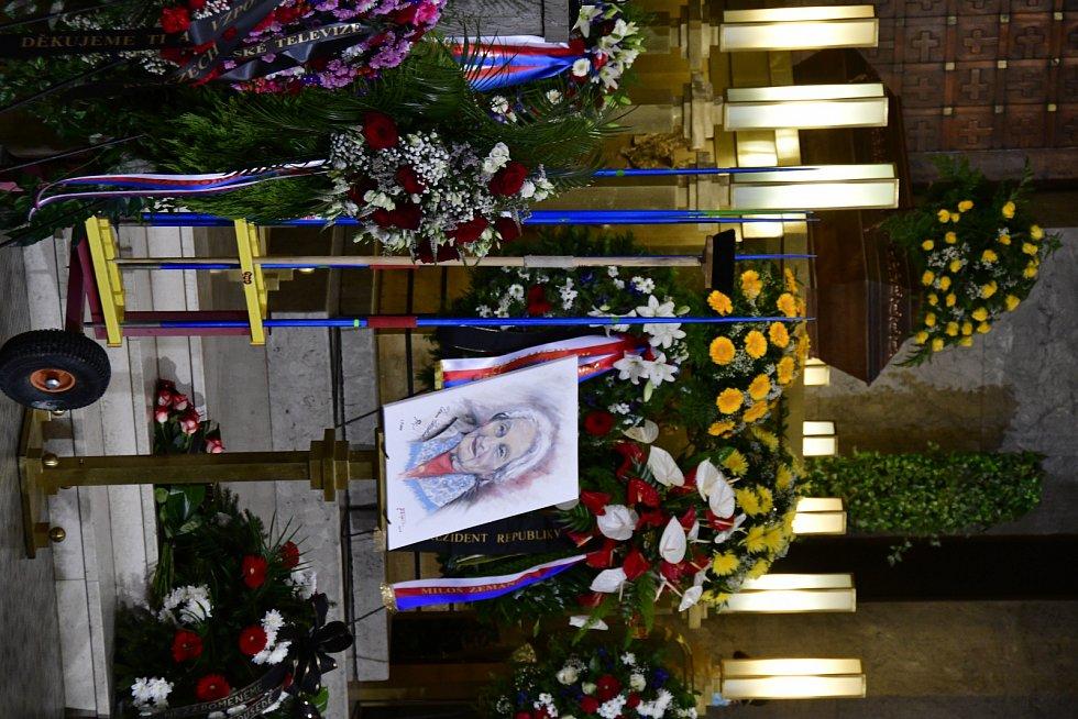 Pohřeb atletické legendy Dany Zátopkové