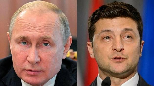 Vladimir Putin a Volodymyr Zelenskyj