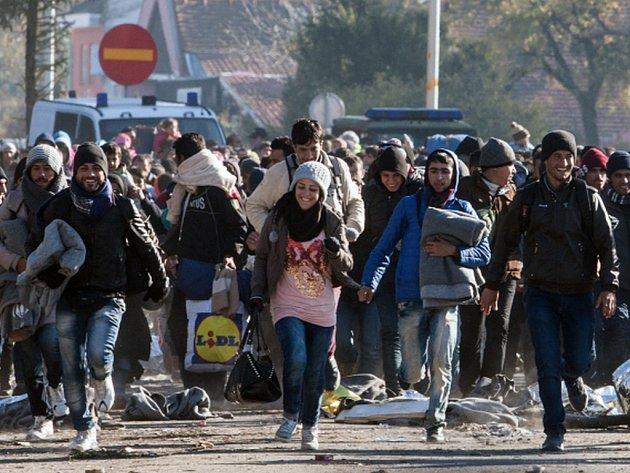 """Slovinsko postaví na hranicích s Chorvatskem """"dočasné technické překážky"""" v zájmu usměrnění proudu migrantů přicházejících do země."""