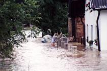 Lidé v Loučkách, místní části Oder, se snažili zachránit, co šlo.