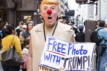 V New Yorku probíhaly na začátku týden protesty proti Donaldu Trumpovi.