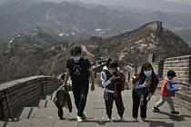 Návštěvníci Velké čínské zdi.