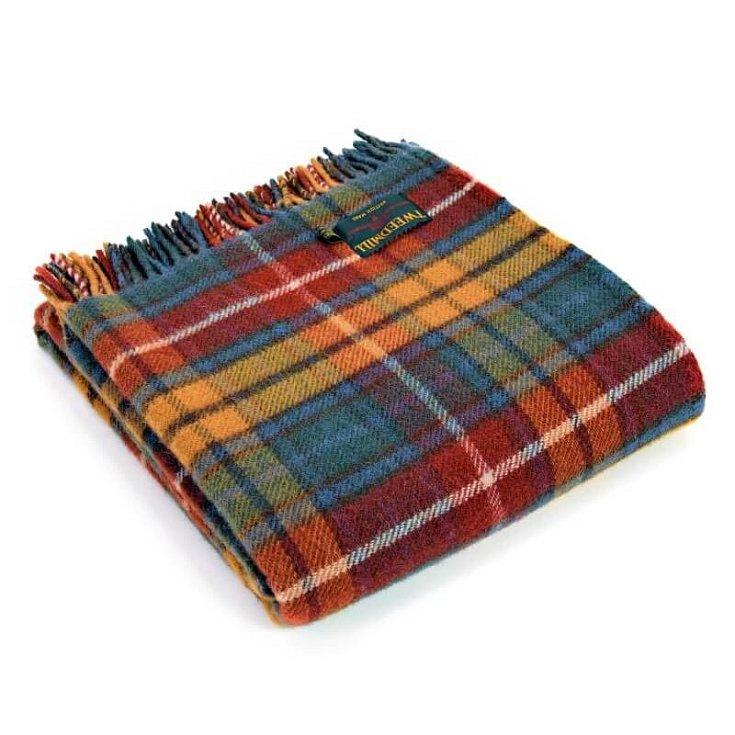 Vlněná deka Tweedmill ve vzoru Buchanan, prodává Tweed.cz