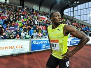 Sprintérský titán Usain Bolt na ostravské Zlaté tretře.