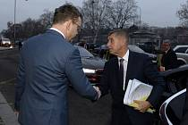 Bývalý ministr dopravy Vladimír Kremlík (vlevo) a premiér Andrej Babiš.