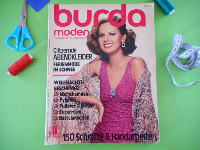 Návrat do ČSSR - obálka časopisu Burda. Tehdejší inspirace pro domácí šití