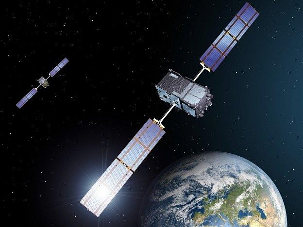 Satelity Galileo na oběžné dráze. Ilustrační foto