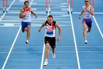Zlato v běhu na 400 m na ME vybojoval Brit David Greene (uprostřed), Josef Prorok (vpravo) v osobním rekordu skončil šestý.