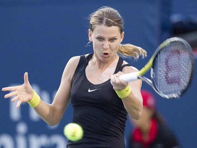 Lucie Šafářová ve čtvrtfinále turnaje v Torontu.