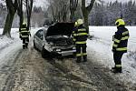Pardubičtí hasiči zasahovali u dopravní nehody u Hlinska. 4. února 2020