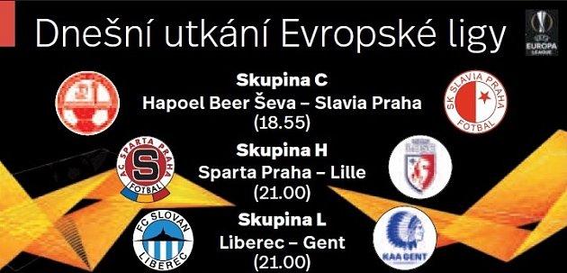 Utkání 1.kola základních skupin Evropské ligy.