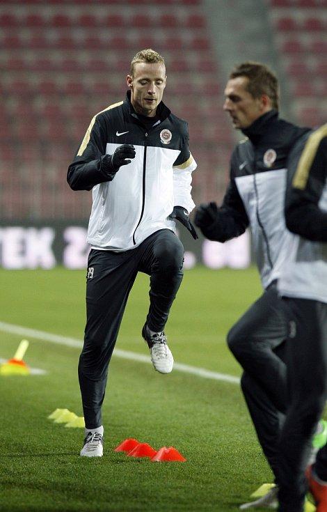 Jiří Jarošík na tréninku Sparty před zápasem Evropské ligy proti Lyonu.