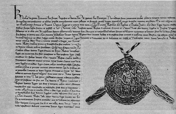 Karel IV., římský a český král vyhlašuje markrabství moravské, vévodství opavské a biskupství olomoucké za léna české koruny