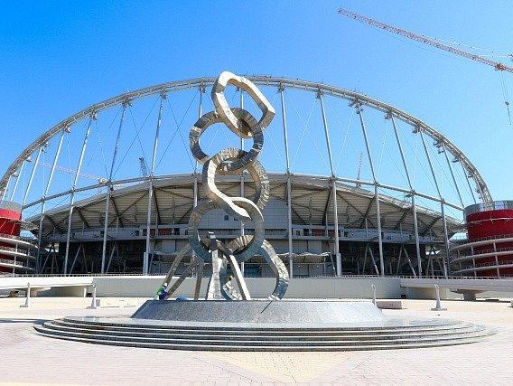 Stavba. Tak to zatím vypadá v Kataru, kde už připravují stadiony pro MS