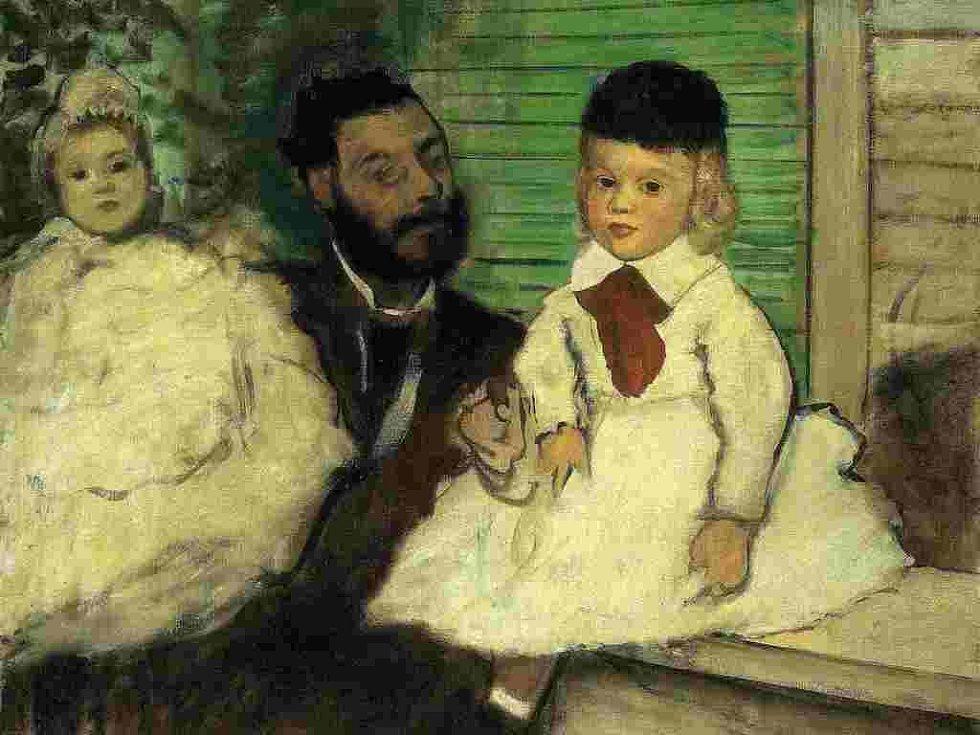 Ludovic Lepic a jeho dcery od Edgara Degase.